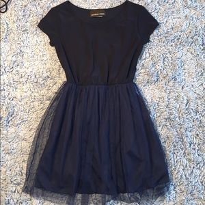 Girls Navy Cocktail Dress